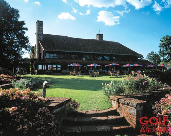 猎艳肯尼亚-温莎高尔夫一边是咖啡园一边是猴群