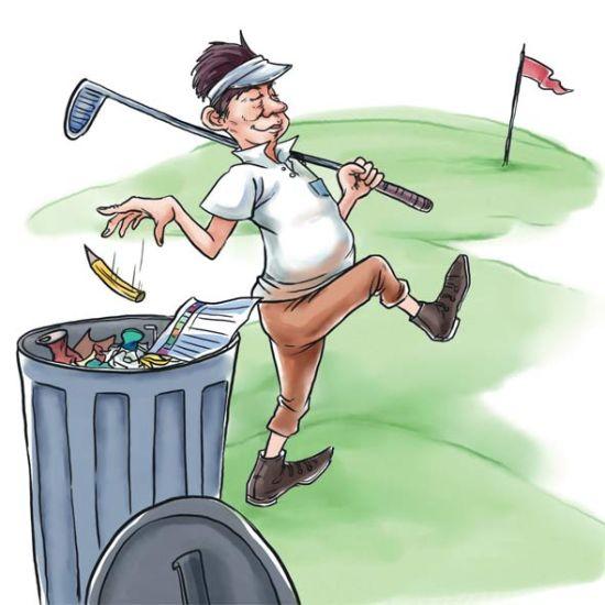 """铅笔的罪与罚 给高尔夫球场上的""""写手""""们"""
