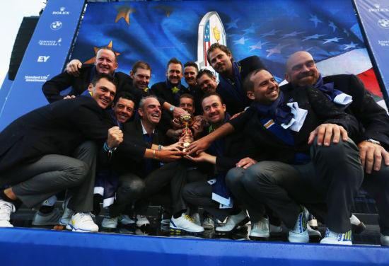 欧洲队成功卫冕莱德杯