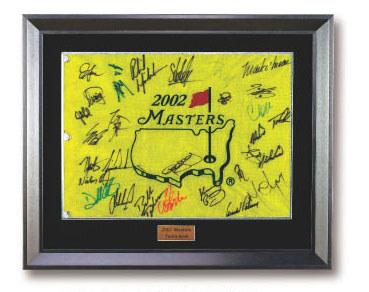 2002年大师赛签名果岭旗