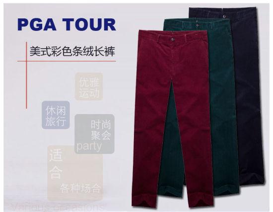 PGA TOUR 美式条绒长裤 缤纷生活炫彩一身