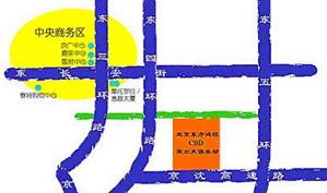 北京CBD国际高尔夫俱乐部位置图示