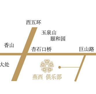 北京燕西高尔夫俱乐部位置图示