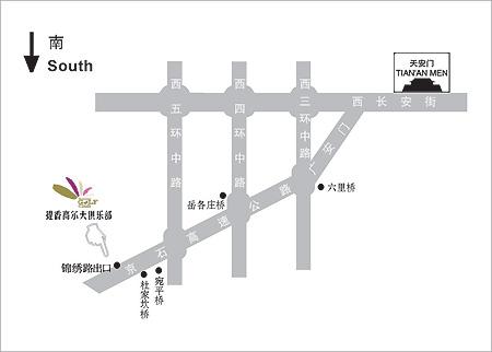 北京提香高尔夫俱乐部位置图示