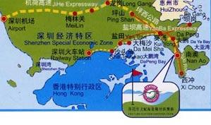 深圳世纪海景高尔夫俱乐部位置图示