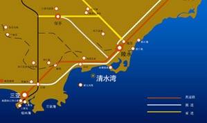 海南清水湾高尔夫球会位置图示