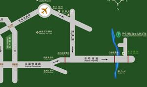 华堂国际高尔夫俱乐部位置图示