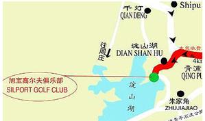 上海旭宝高尔夫俱乐部位置图示
