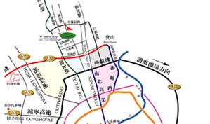 上海美兰湖高尔夫俱乐部位置图示