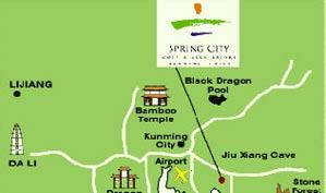 云南春城湖畔高尔夫俱乐部位置图示