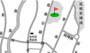昆明阳光高尔夫俱乐部位置图示