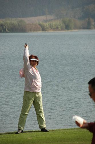图文-美津浓高尔夫订货会北京盛宝龙李月红
