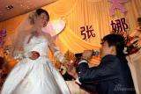 图文-女子高尔夫球员张娜婚礼举行婚礼感人一幕