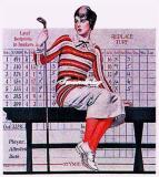 图文-女子高球吹起异域复古风挂历上的高球女子