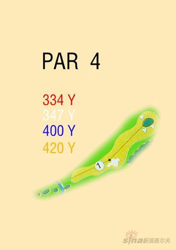 图文-海南南燕湾高尔夫球场攻略图1号洞球道