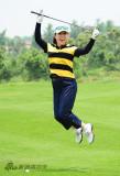 关凌享受快乐高尔夫