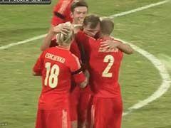 视频集锦-金信煜破门 韩国热身遭俄罗斯2球逆转