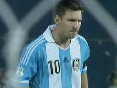 进球视频-阿圭罗造点梅西主罚 晋升阿史第二射手