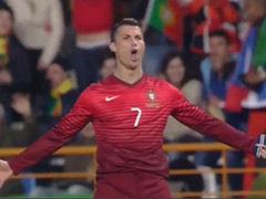 进球视频-C罗劲射轰国家队第48球 成葡萄牙NO1
