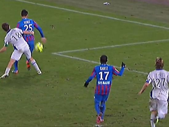 视频集锦-法国悍将劲射扳平 卡昂1-1巴斯蒂亚