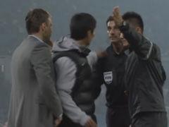 视频-界外球判罚引争议 格隆吃黄+国安助教出场