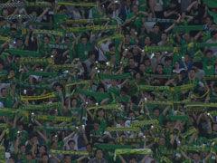 视频-工体看台爆满 国安球迷高举围巾呐喊声震天