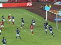 视频-埃神吉拉迪诺连续中柱 恒大半场前错失进球