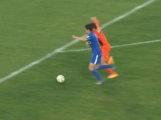 进球视频-于涛脚后跟轻巧一磕 杨家威劲射远角