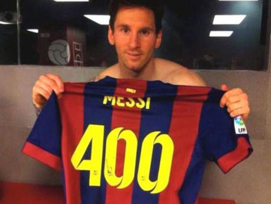 梅西巴萨400球全记录 仅用471场&21次破皇马