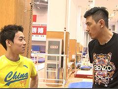 视频-蔡宜达造访中国体操队 邹凯亲上阵传技艺
