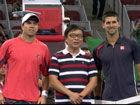 视频-韩乔生现身中网赛场 为小德比赛做开球嘉宾