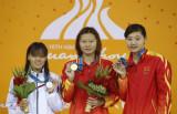 女子100米仰泳赵菁夺冠