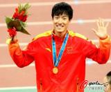 男子110米栏刘翔夺金
