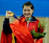 空手道女子55KG级越南选手金牌
