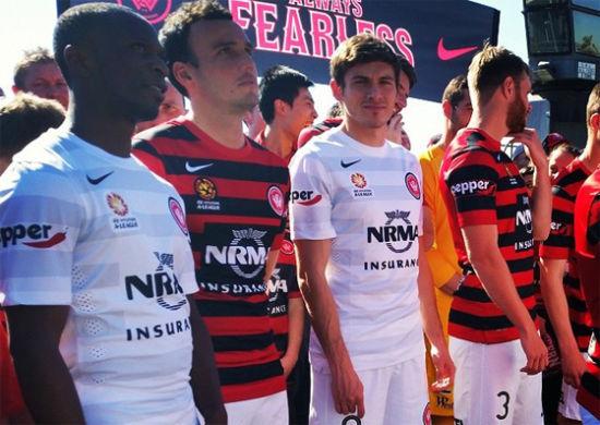 西悉尼新发布的客场球衣是白灰横条衫,但无法在这个赛季的亚冠比赛中使用。