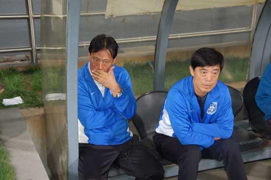 图文-[中超]天津泰达0-0北京国安左树声表情严肃