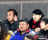 陶伟和妻子为国安助威