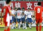 图文-[中超]青岛中能1-3山东鲁能 一起享受胜利
