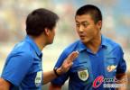 图文-[中超]陕西中建VS北京国安 裁判在嘀咕啥