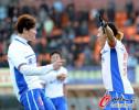 图文-[中超]山东客场1比1南昌提前夺冠 如此激动