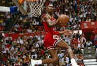 NBA老照片-全明星灌篮大赛经典乔丹天空亦无极限