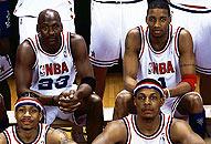 NBA老照片-2003全明星告别传奇谁人可并肩乔丹