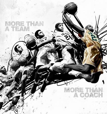篮球海报手绘图片黑白