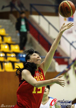 亚锦赛-中国女篮胜中华台北进四强陈楠轻松17+7