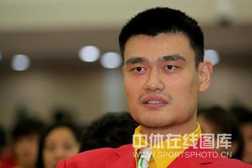 图文-北京奥运会中国代表团成立 小巨人姚明