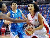 潘丽带球上篮