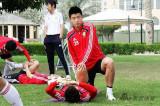 国足在驻地就地训练