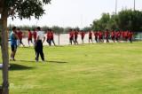 球员们在慢跑中
