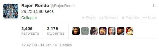 隆多推特截图