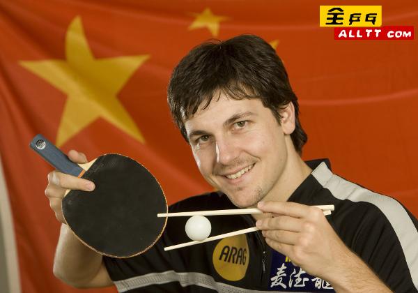 波尔伤愈已经恢复训练握直拍举筷子迎北京奥运(图)